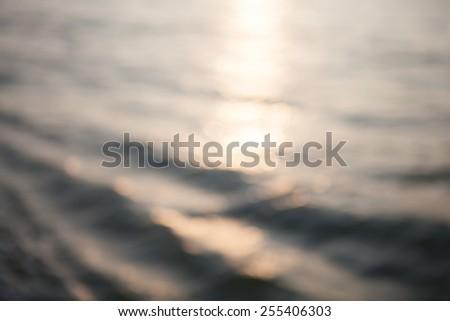 Blured ocean waves background - stock photo