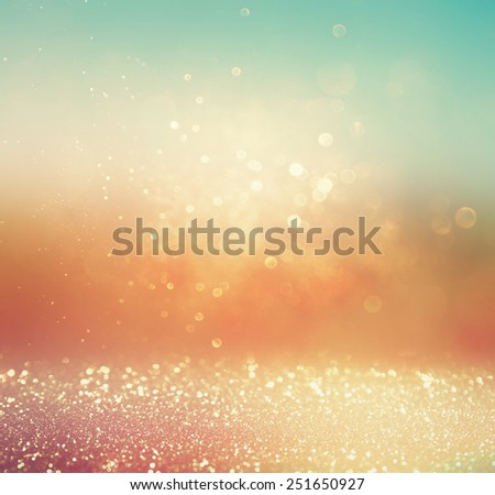 blurred abstract background of bokeh lights and textures - stock photo