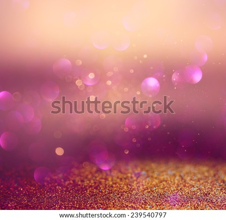 blurred abstract brown and purple bokeh lights and textures. image is defocused  - stock photo