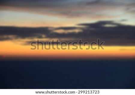 Blurred after sunset sky background - stock photo