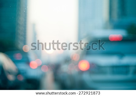 blurred background and color tone tuned thailand city scenes - stock photo