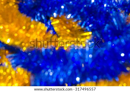 Blurred background. background bokeh Christmas decorations. tinsel - stock photo
