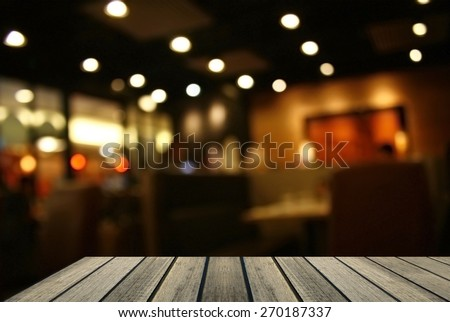 Blurred background : Customer at restaurant blur background with copy space for text - stock photo
