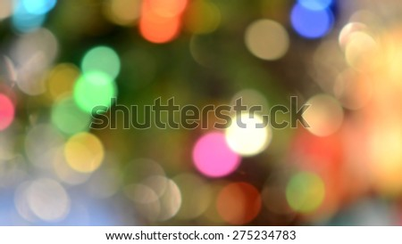 Blurred background, defocused photo of colorful lights - stock photo
