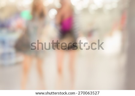 blurred background for shopping store - stock photo