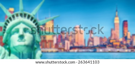 Blurred Background image from New York City - stock photo
