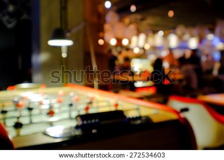 Blurred background of an underground pub or restaurant - stock photo
