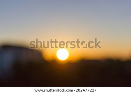 Blurred background of Gold desert in sunset,abstract bright blur background  Gold desert in sunset,abstract bright blur background - stock photo