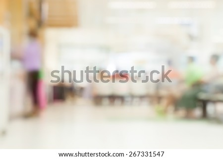 Blurred background   Patient waiting for see doctor  abstract background - stock photo