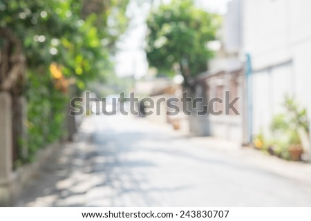 blurred background street in the city - stock photo