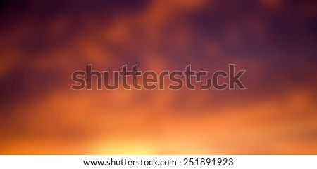 Blurred background sunset sky - stock photo