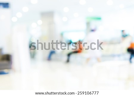 Blurred background : Vintage filter patient waiting for see doctor. - stock photo