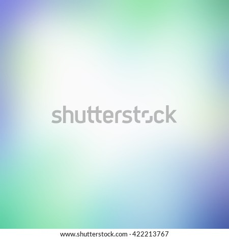 blurred background with smooth texture and bright colors of green and purple with faded white center - stock photo