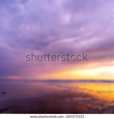 Blurred Beach Background - stock photo