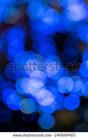 blurred blue light - stock photo