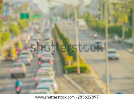 Blurred cars - stock photo