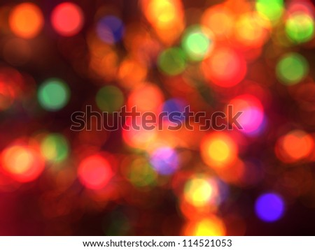 Blurred christmas lights background. De focused Light - stock photo