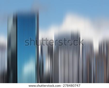 Blurred City Skyline Background. View of Sydney skyline - stock photo