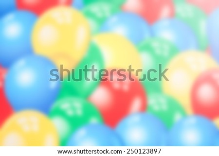 blurred colorful balloon for background - stock photo