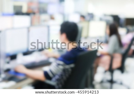 blurred computer engineering student workshop programming code at laboratory technology equipment:blur training course network communication:telecommunication:operator employee internship:campus life. - stock photo