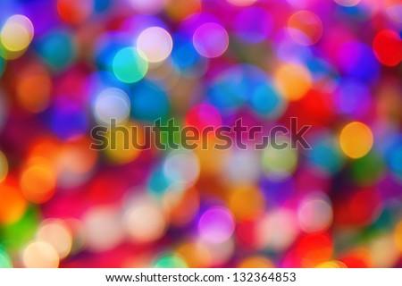blurred defocused multi color lights - stock photo