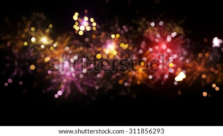 blurred fireworks abstract christmas background