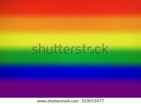 Blurred Flag Background - Rainbow LGBT Flag - stock photo
