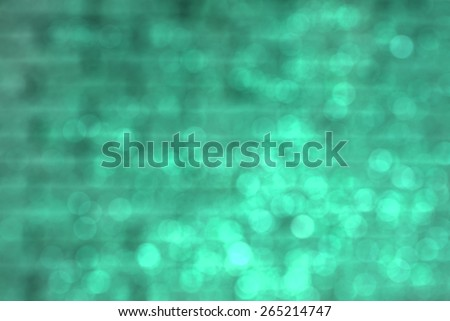 blurred green brick wall texture background - stock photo