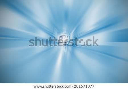 Blurred hospital corridor concept emergency case - stock photo
