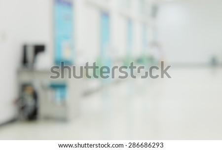 blurred hospital room background - stock photo
