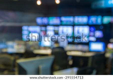 blurred image against television studio - stock photo