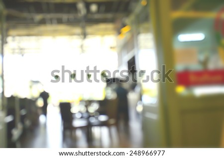 blurred image background of restaurant - stock photo