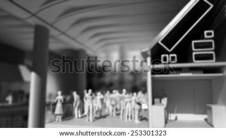 Blurred image human on building for background. - stock photo
