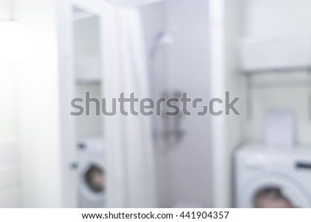 Blurred image of bathroom and toilet for backgrounds uses - stock photo