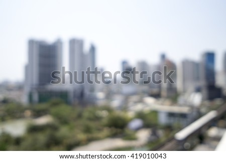 Blurred image of cityscape for background uses. - stock photo