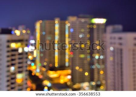 Blurred image of Gurney Drive, Penang - stock photo