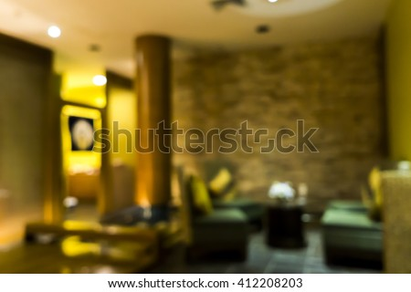 Blurred image of lobby in spa for background use. - stock photo