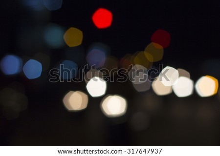 Blurred lights abstract color background City - stock photo