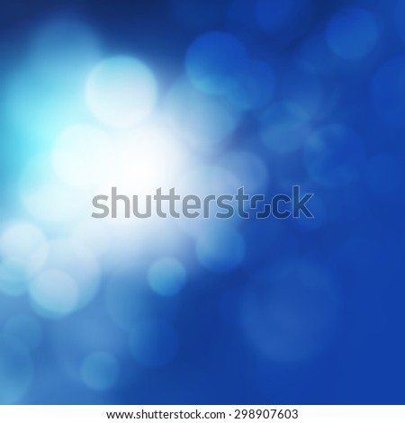 Blurred lights background blue - stock photo