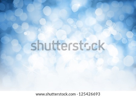Blurred lights blue background - stock photo