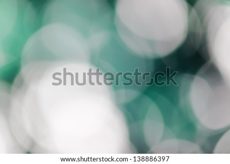 Blurred lights Blue bokeh abstract light background - stock photo