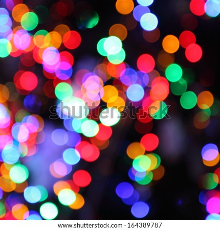 blurred lights of christmas tree abstract bokeh background - stock photo