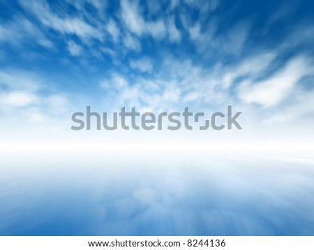 Blurred misty abstract infinite sky - stock photo