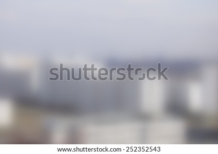 Blurred modern buildings as background - stock photo
