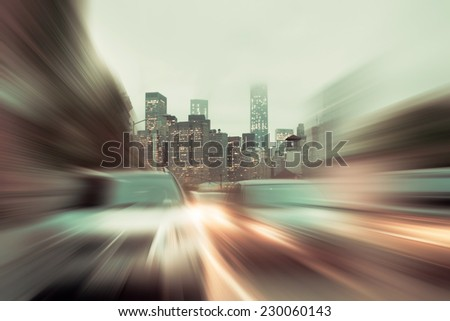 BLURRED MOTION - stock photo