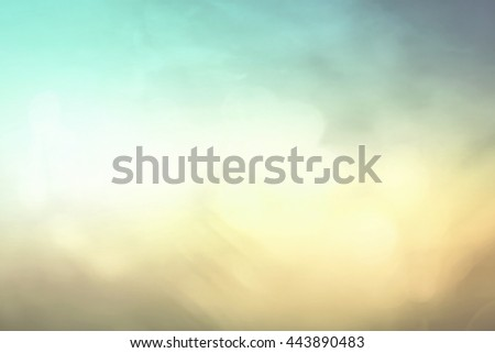 Blurred Nature. Bokeh, View, Soft, Grass, Art, Farm, Land, Light, Fresh, Lawn, Flora, Color, Bright, Design, CSR, Peace, Sunny, Zen, Spa, Season, White, Earth, Heaven, Yellow, Orange, Pastel, Vintage. - stock photo