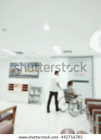 Blurred,Nursing assistants are caring for patients - stock photo