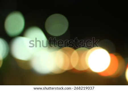 Blurred of car in city at night - stock photo