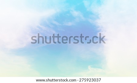 blurred of cloud background with a pastel colored orange to blue gradient. - stock photo