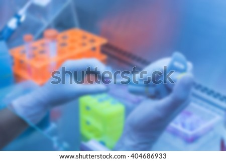 Blurred of laboratory - stock photo